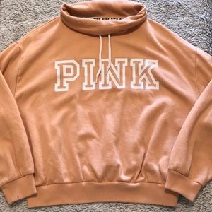 VS PINK   Yellow Cowl Neck Sweater w/String ♥️